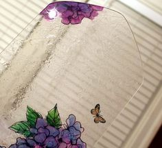 Create texture on glass acrylic and paint with alcohol inks