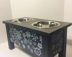 Dog/Cat Feeder Dog Bowls Elevated Dog Bowl от BegandBarkBoutique