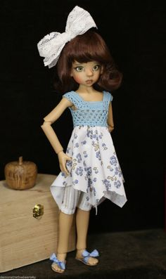 """Kaye Wiggs BJD Layla Hope Outfit Cotton 4P Set wth Sandals 18"""" MSD Sisters Grimm 
