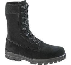 """Mens Military Boots - 9"""" US Navy Suede DuraShocks Steel Toe - Batesfootwear.com"""
