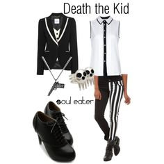 """Kid Death, from Soul Eater"" by blackrabbitmegapig on Polyvore"