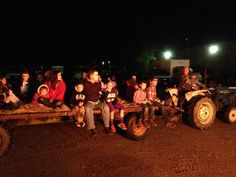 Taking friends and family on a hayride.