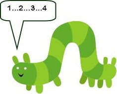 Printable Caterpillar Counting/Coloring Game Board - Includes variations of play.