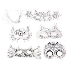 Halloween Color Makes 20 Masks - Spritz™