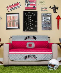 Love this Ohio State Buckeyes Reversible Love Seat Protector on #zulily! #zulilyfinds