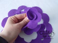 Diy Crafts - RibbonFlowerbouquet,RibbonFlowereasy-tutorial how to make flower felt fabric tutorial come fare fiore stoffa feltro 19 tutorial how Diy Crafts How To Make, Felt Crafts Diy, Felt Diy, Handmade Felt, Fabric Crafts, Paper Flowers Wedding, Paper Flowers Diy, Paper Roses, Felt Flowers