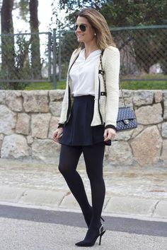 Falda-pantalón OhMyLooks, zapatos Zara negros 7