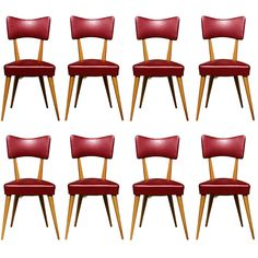 Stunning Set of 8 Italian Dining Chairs