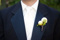 Peony Boutonnière with Wire Accent at Loose Mansion by Blue Bouquet, via Flickr