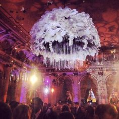 I think I could make a smaller version of this as a chandelier or decor for a party.
