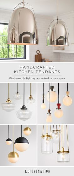 Create the perfect kitchen pendant for your space with our customizable lighting, handcrafted to order in Portland, Oregon. Customize your kitchen pendant style with your choice of size, finish, and shade—shop our pendants to get started.