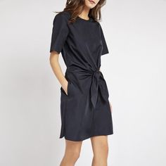 awesome 3.1 Phillip Lim | Short Sleeve Knot Cotton Dress...
