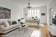 Salón comedor casa de estilo nórdico chic http://bit.ly/1Vt4xI1