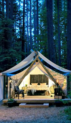Can I live there? This looks appealing (do NOT think about mosquitos...) and totally achievable (if you happen to have a forest).