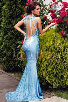 Rochie de seara lunga eleganta cu spatele gol stil sirena cu paiete albastre Atmosphere -->>> http://www.fashion8.ro/rochii/1026-rochie-de-seara-lunga-eleganta-cu-spatele-gol-stil-sirena-cu-paiete-albastre-atmosphere