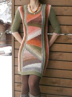 inchi's Letter from fall, Ravelry: inchi's Letter from fall. Knitting Short Rows, Fall Knitting, Knitting Stitches, Tricot D'art, Crochet Clothes, Knit Dress, Knitwear, Knit Crochet, Knitting Patterns