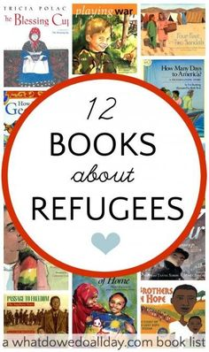 Books about Refugees Picture books and biographies about refugees. Teach kids compassion and how to help others.Picture books and biographies about refugees. Teach kids compassion and how to help others. Kids Reading, Teaching Reading, Teaching Kids, Reading Lists, Reading Books, Teaching Biology, Reading Resources, Creative Teaching, 12th Book