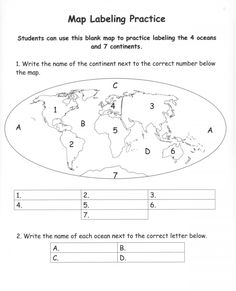 Blank World Map Continents Pdf Copy Best Of Political White For Unfolded World Map Continents PdfBack To 12 Full World Map Continents PdfSpecific World Map Continents Pdf Free Blank Printable Continent Map, World. Geography Worksheets, Geography Activities, Geography For Kids, Social Studies Worksheets, Geography Lessons, 2nd Grade Worksheets, Teaching Geography, Social Studies Activities, World Geography