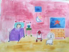 Julie sleeping Red room Rocket Orange Star by LilyMoonsigns