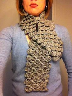 crocodile stitch scarf #crocodilestitches