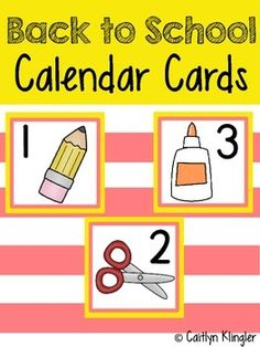 Each card is 2.85 x 2.5 and are ideal for a classroom calendar. Each card features a bright-bold border, a bold number and a Back to School inspired image. The cards can be arranged in an ABC pattern.The product includes numbers 1-34 and 23/30 and 30/31.Print product on white cardstock and laminate for durability.