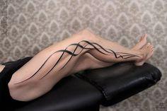 Custom geometric piece on the right leg. Custom geometric piece on the right leg. Tribal Tattoos For Women, Trendy Tattoos, Unique Tattoos, Beautiful Tattoos, Tattoos For Guys, Forearm Tattoo Men, Arm Band Tattoo, Body Art Tattoos, Sleeve Tattoos