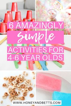 Mom Hacks: Fun Activities For 4-6 Year Olds At Home