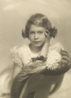 the future Queen Elizabeth II is shown here as a young Princess in 1934