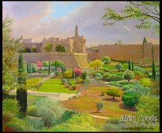 Love For His People: Jerusalem springtime - painting by Alex Levin