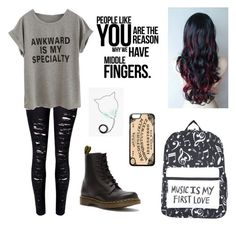 """""""Untitled #229"""" by awakard-jedi-turtle ❤ liked on Polyvore featuring Dr. Martens"""
