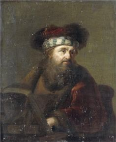 Portrait of a Rabbi - Rembrandt