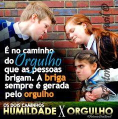 """""""É no caminho do orgulho, que as pessoas brigam. A briga sempre é gerada pelo orgulho. """"  ASSISTA a Palavra do Dia """"Humildade X Orgulho"""" (Os Dois Caminhos), By @AntonioSilvaBra: http://facebook.com/AntonioSilvaBrasilOficial/posts/860417177361132 #ecdonline"""