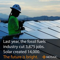 "11.5.13 - 5 Reasons Solar Is Already Beating Fossil Fuels - Jobs, environment & Investment - ""Firms like Mercer and WHEB are advising investors to move their investments out of coal and oil and into renewables. Major investors are already making this move. Warren Buffett has invested $5.4 billion invested in solar and has predicted the end of coal as an American power source."""