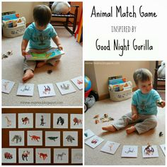 Minne-Mama: Good Night Animals Match Game