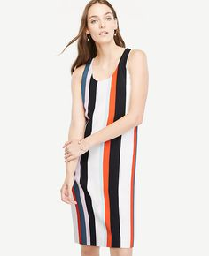 a0ce141a5ca Shop Ann Taylor for effortless style and everyday elegance. Our Striped  Tank Shift Dress is the perfect piece to add to your closet.