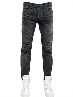 4328e33098f4 BALMAIN - 18CM VERWASCHENE JEANS AUS BAUMWOLLDENIM - € 754.00 Bootcut-jeans  Für Herren,