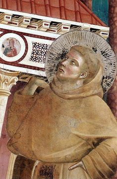 GIOTTO di Bondone Legend of St Francis- 6. Dream of Innocent III (detail) 1297-99 Fresco Upper Church, San Francesco, Assisi