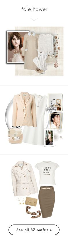 """""""Pale Power"""" by musicfriend1 ❤ liked on Polyvore featuring Carven, T By Alexander Wang, Miu Miu, Gucci, BijouxBar by Vivien Frank, Uniqlo, Ÿù, Kenzo, 3.1 Phillip Lim and Ippolita"""