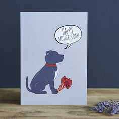 Staffie Mother's Day Card