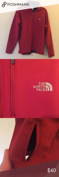 EUC Men's XL the North Face Pullover Size XL Men's Red The North Face 97% polyester,  7% elastin Pullover Jacket. The North Face Jackets & Coats Performance Jackets