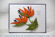Bird of Paradise card by Janet Yates using SU Bird Builder punch