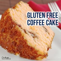 Gluten Free Coffee Cake: For recipe and directions-- http://draxe.com/recipe/gluten-free-coffee-cake/