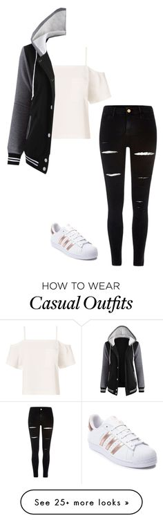"""Casual"" by sillybands95 on Polyvore featuring T By Alexander Wang, River Island and adidas"
