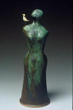 Ceramic Sculpture - Figurative Sculpture with thanks to Sculpture Artist Cathy Broski , Artist Study Resources for CAPI::: Create Art Portfolio Ideas at milliande.com, Art School Portfolio Work