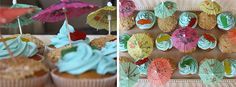 Fantastic Party Theme to Start by Yourself: Beachy Cupcakes At An End Of Summer Party ~ cuhosted.com Ideas Inspiration