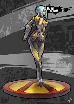 Maya The Siren, Borderlands 2 artwork by Penett Borderlands Tattoo, Borderlands Maya, Borderlands Series, Tales From The Borderlands, Borderlands Cosplay, Game Character, Character Design, Techno, Video Games Girls