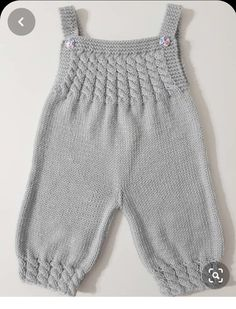 Best 12 Ravelry: Baby Overalls with detailed cabled bodice and matching sweater pattern by OGE Knitwear Designs – SkillOfKing. Crochet Baby Pants, Knit Baby Dress, Knitted Baby Clothes, Knitted Romper, Baby Boy Knitting, Knitting For Kids, Sweater Knitting Patterns, Knitting Designs, Baby Dungarees