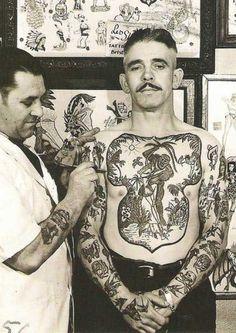 vintage tattooed man