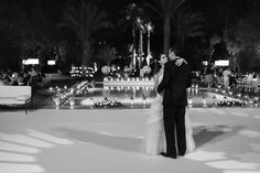 First Dance with a backdrop of hundreds of Moroccan lanterns