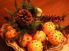 Pomander Tutorial, Chickadee Home Nest pine cones with evergreen
